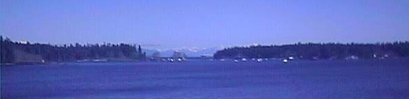 Nanaimo' harbour. You can see the mountains on the mainland between Protection and Newcastle islands.